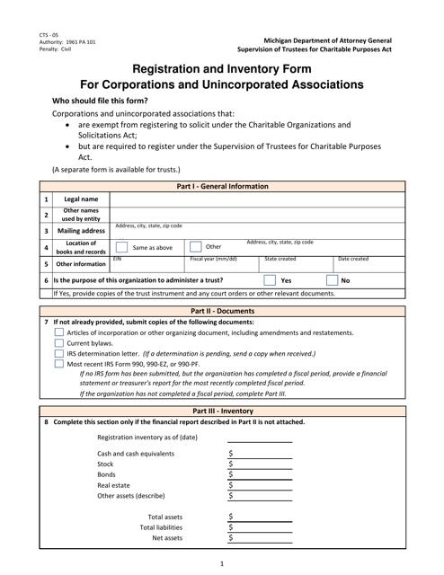 Form CTS-05  Printable Pdf