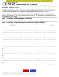 "Form RUT-25-E ""Fleet Exemption Schedule"" - Illinois"