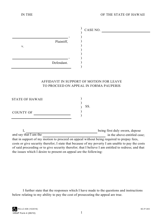HRAP Form 4 Printable Pdf