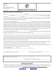 """Form AOC-796 """"Standard Power of Attorney for Medical/School Decision Making"""" - Kentucky"""