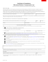 """Form LIC04 """"Certificate of Compliance - Minnesota Workers' Compensation Law"""" - Minnesota"""