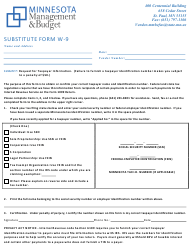 Form W-9 Substitute Form - Minnesota