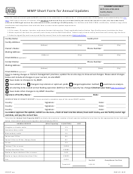 DNR Form 542-8162 Mmp Short Form for Annual Updates - Iowa