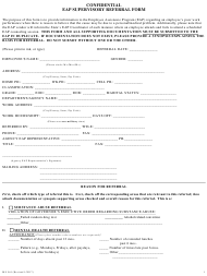 "Form MS561 ""Confidential Eap Supervisory Referral Form"" - Maryland"