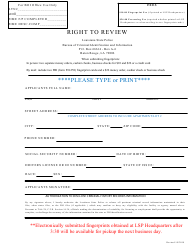 """Right to Review"" - Louisiana"