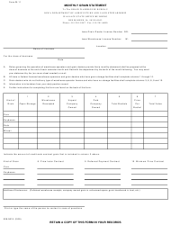 Form W-11 Monthly Grain Statement - Iowa