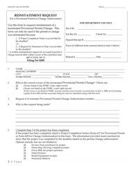"Form 637 ""Reinstatement Request"" - Montana"