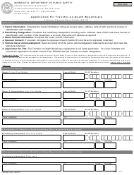 "Form PS2004-2 ""Application for Transfer-On-Death Beneficiary"" - Minnesota"