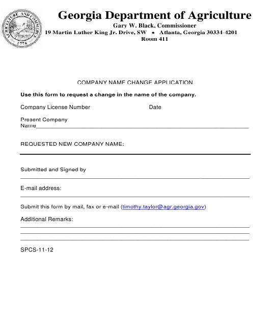 Form SPCS-11-12  Printable Pdf