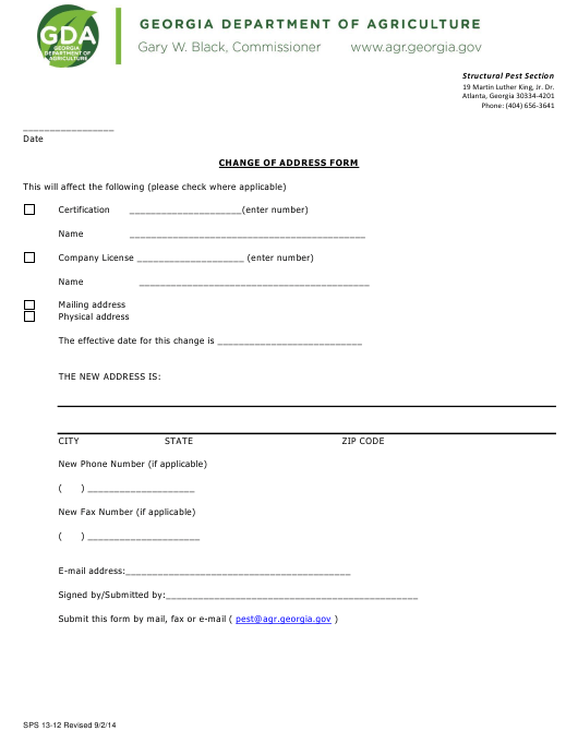 Form SPS13-12  Printable Pdf