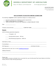 "Form SPS-13-08 ""Add a Category to an Active Company License Form"" - Georgia (United States)"