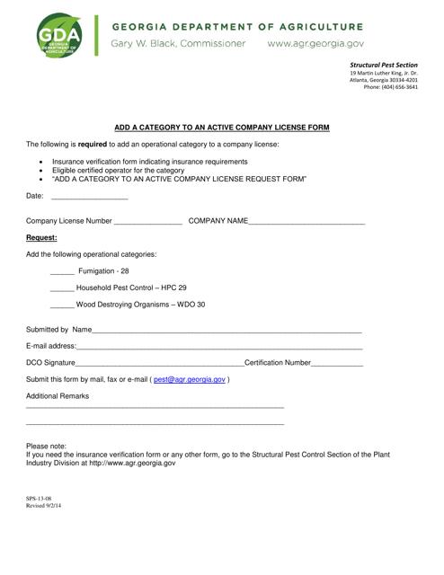Form SPS-13-08  Printable Pdf