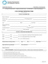 """X-Ray Incident Reporting Form"" - Georgia (United States)"