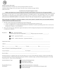 """Food Service Inspection Inquiry Form"" - Georgia (United States)"