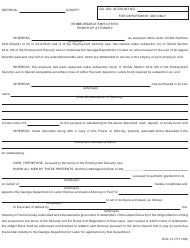 "Form DOL-14 ""Reimbursable Employer's Power of Attorney"" - Georgia (United States)"