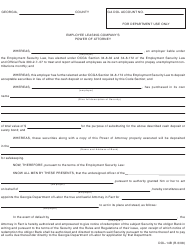 "Form Dol-14b ""Employee Leasing Company's Power of Attorney"" - Georgia (United States)"