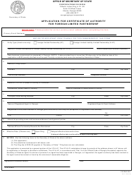 "Form 251 ""Application for Certificate of Authority for Foreign Limited Partnership"" - Georgia (United States)"