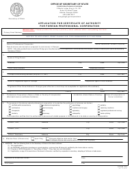 "Form 238 ""Application for Certificate of Authority for Foreign Professional Corporation"" - Georgia (United States)"