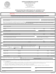 "Form 236 ""Application for Certificate of Authority for Foreign Profit or Nonprofit Corporation"" - Georgia (United States)"