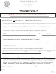 "Form 246 ""Transmittal Information Form - Georgia Limited Partnership"" - Georgia (United States)"
