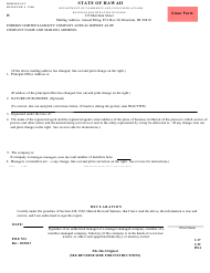 "Form C6 ""Foreign Limited Liability Company Annual Report"" - Hawaii"