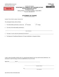 Form LLP-3 Statement of Change - Hawaii