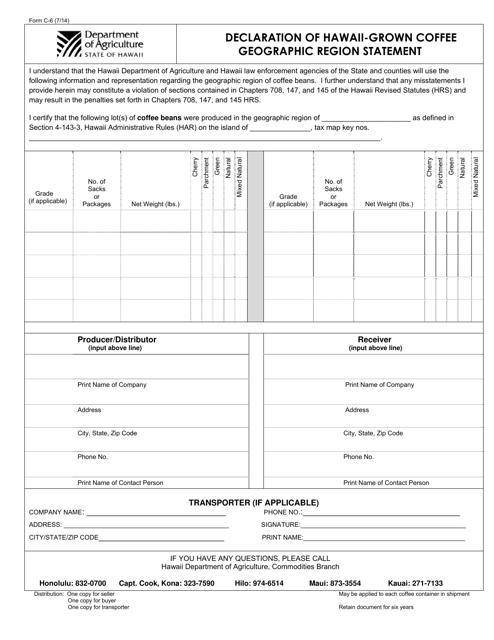 Form C-6  Printable Pdf