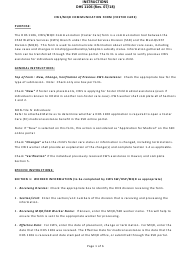 """Instructions for Form DHS1106 """"Cws/Mqd Communication Form (Foster Care)"""" - Hawaii"""