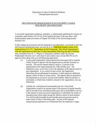 "Form UC-175 ""Application for Self-financing - Non-profit Organization"" - Hawaii"