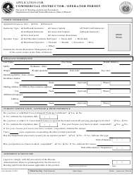 """Application for Commercial Instructor / Operator Permit"" - Hawaii"