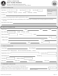 """Application for Hot Work Permit"" - Hawaii"