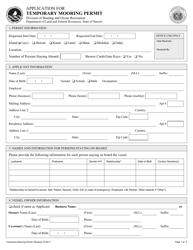 """Application for Temporary Mooring Permit"" - Hawaii"