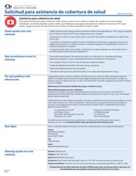 """Formulario HW2014 """"Solicitud Para Asistencia De Cobertura De Salud"""" - Idaho (Spanish)"""