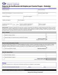 Form HW 0505S Reporte De Verificacion De Empleo Por Cuenta Propia - Estandar - Propietario Unico - Idaho