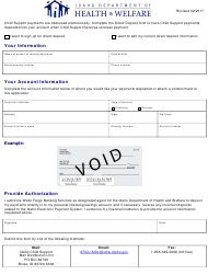 Direct Deposit Form - Idaho
