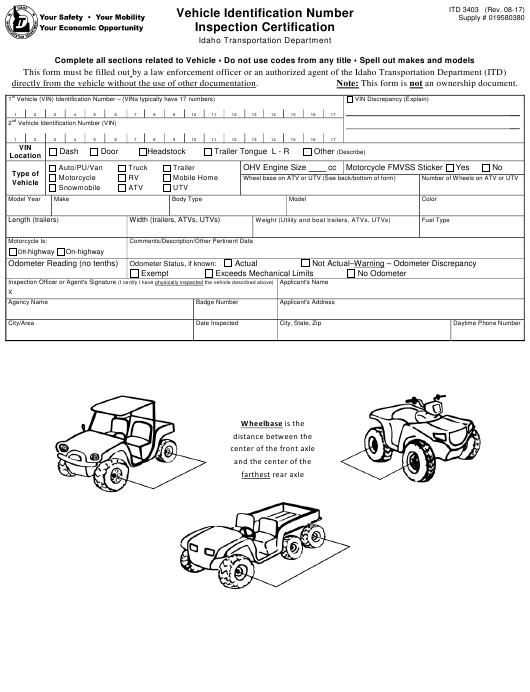 Form ITD 3403 Fillable Pdf