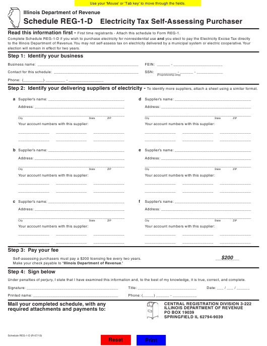 Form REG-1 Fillable Pdf