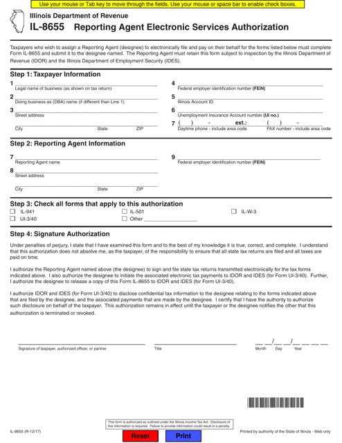 Form IL-8655 Fillable Pdf