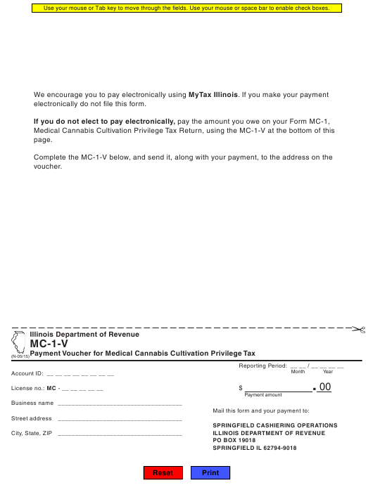 Form MC-1-V Fillable Pdf