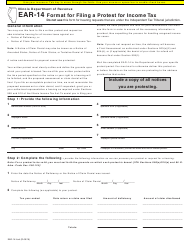 Form EAR-14 Format for Filing a Protest for Income Tax - Illinois