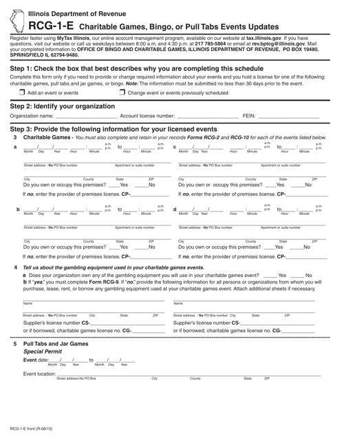 Form RCG-1-E Printable Pdf