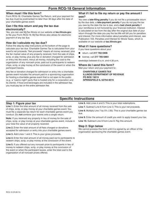 Form RCG-18  Fillable Pdf
