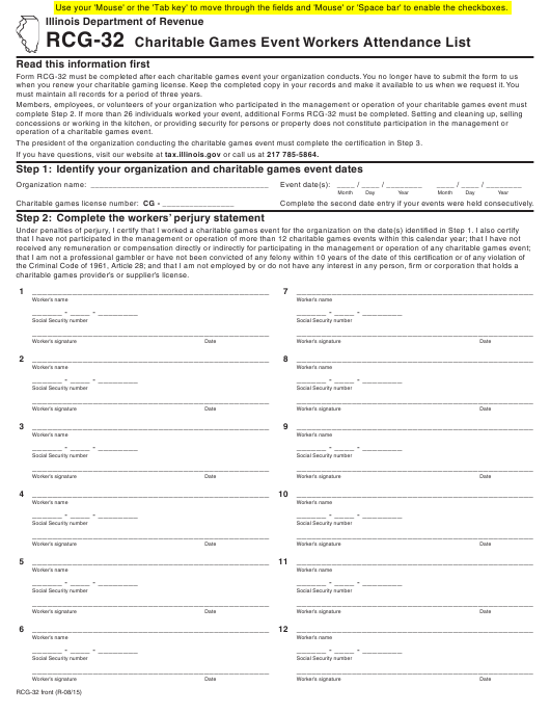 Form RCG-32 Fillable Pdf