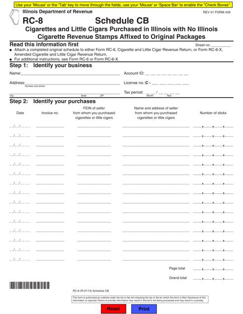 Form RC-8 Fillable Pdf