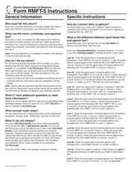 "Instructions for Form RMFT-5 ""Motor Fuel Distributor/Supplier Tax Return"" - Illinois"