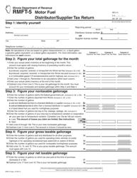 "Form RMFT-5 ""Motor Fuel Distributor/Supplier Tax Return"" - Illinois"