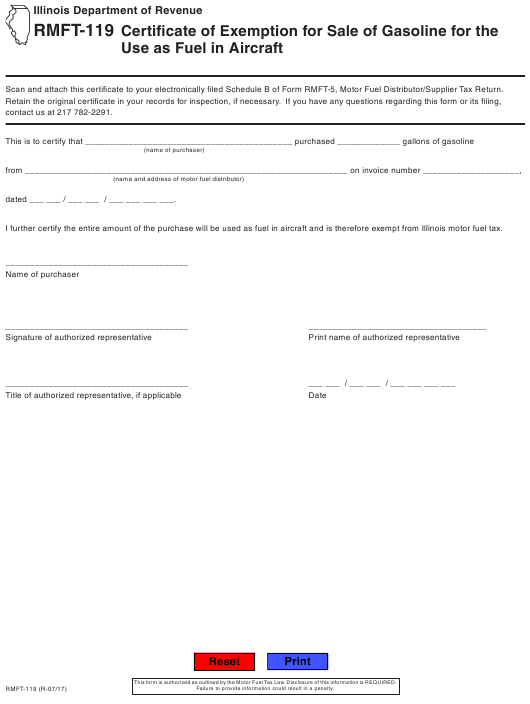 Form RMFT-119 Fillable Pdf