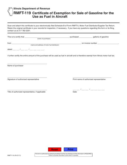 exemption certificate illinois