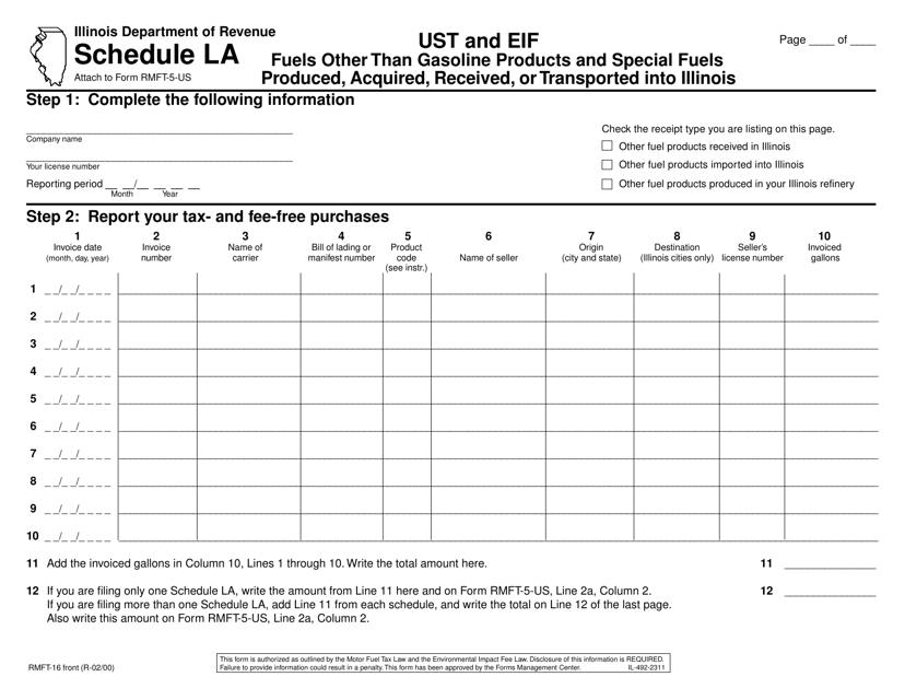Form RMFT-16 Printable Pdf