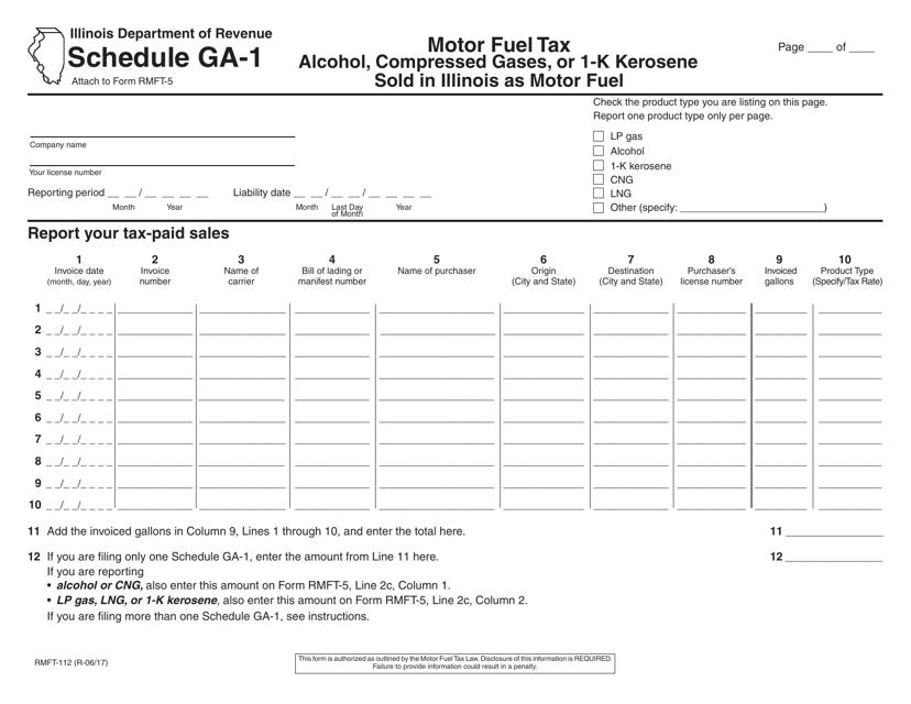 Form RMFT-112 Printable Pdf